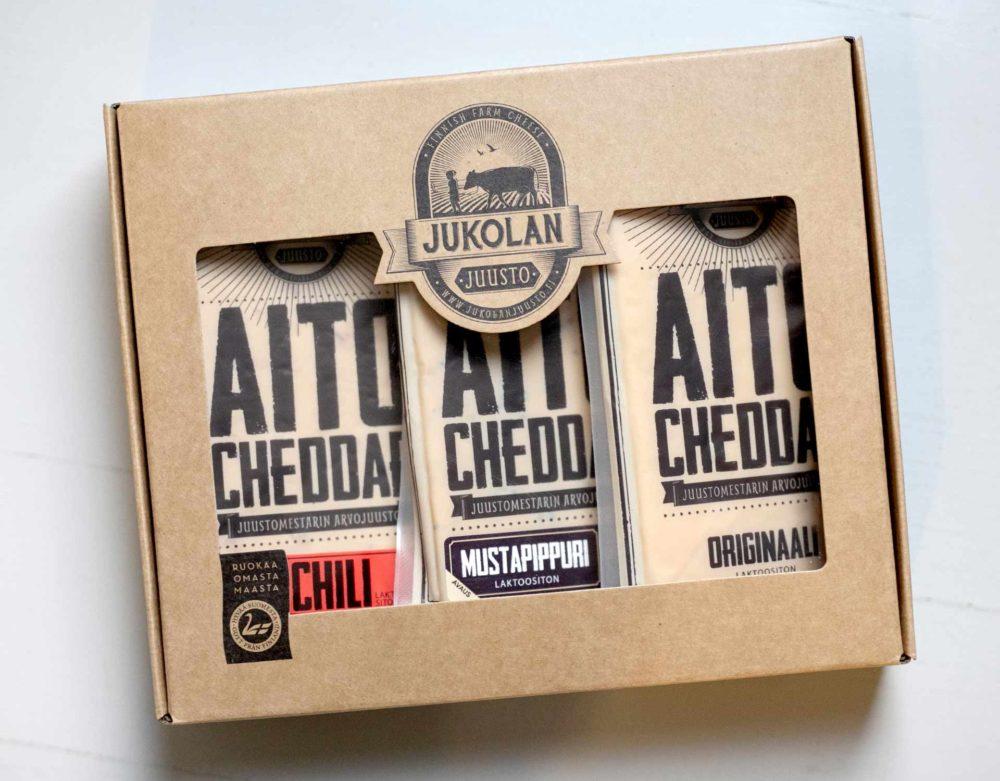 Aito cheddar lahjapakkaus