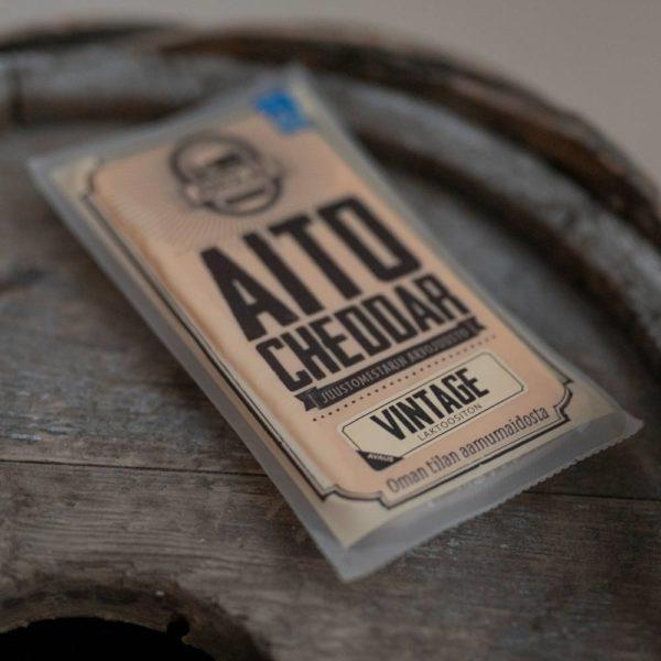 Aito Cheddar Vintage tuotepakkaus