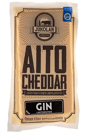 Aito Cheddar Gin tuotekuva edestä suora
