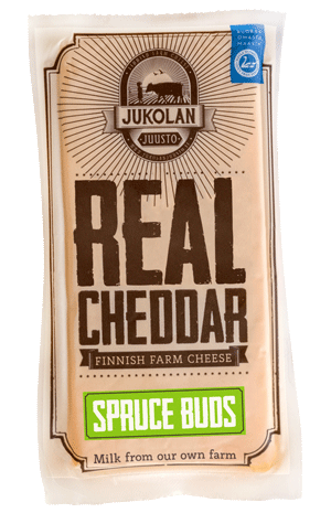 Real Cheddar with Spruce Buds package